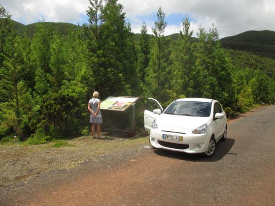 Das Hochland von Terceira mit interessanten Informationen zu Flora und Fauna