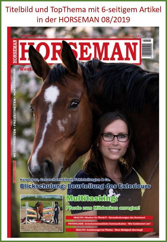 Bewertung Lucky Horse Shop, Gelassenheitstraining Hindernis, Bälletor, Vertrauensgasse, Pferdezeitschrift, Horseman, Cover