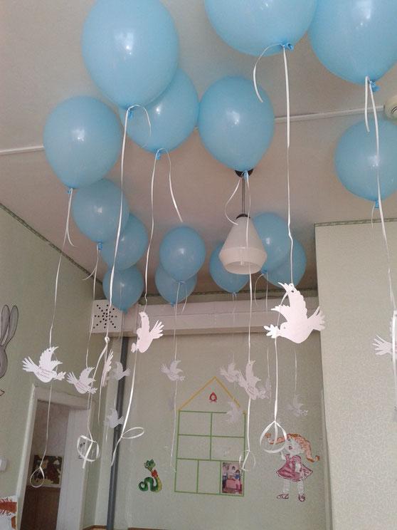 """подготовка к Международной акции: """"Голубь Мира"""" 21.09.17."""