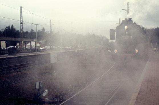 Heute waren wir mit der historischen Eisenbahn unterwegs!