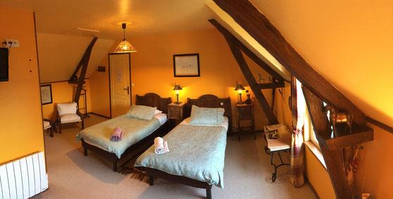 Chambre Explorateurs avec 2 lits jumeaux (sur demande)