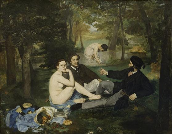 《草上の昼食》1863年