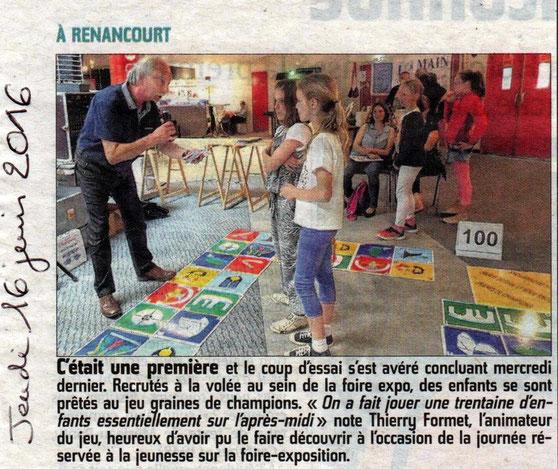 Foire-exposition de Picardie - Article du Courrier Picard - Juin 2016