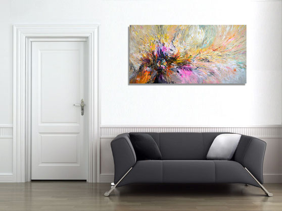 . . . thus the very expressive painting acts on the wall
