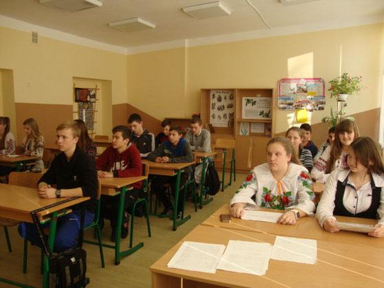 Учні уважно слухали доповідь