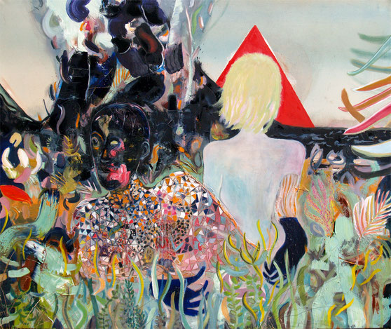 serpentine, 2015, oil and acrylic on canvas, 145 x 170 cm