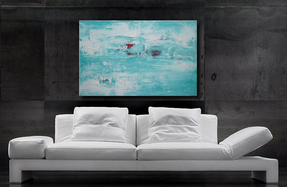 modernes acrylgemälde abstrakt 80 x 80 cm