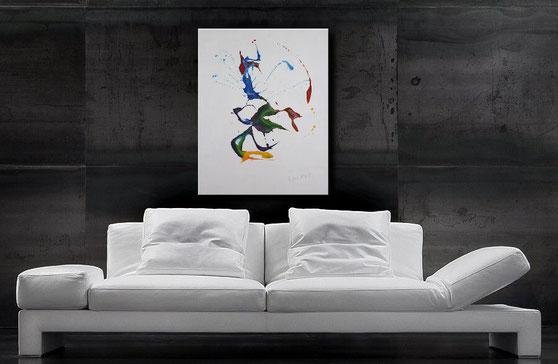 Leinwandgemälde, White Art, Jens Burkhardt, Burk Art