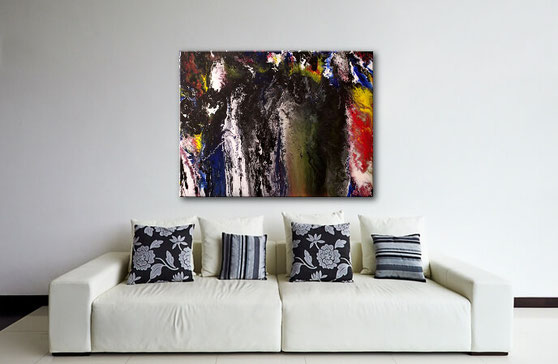 fluid art acrylgemälde