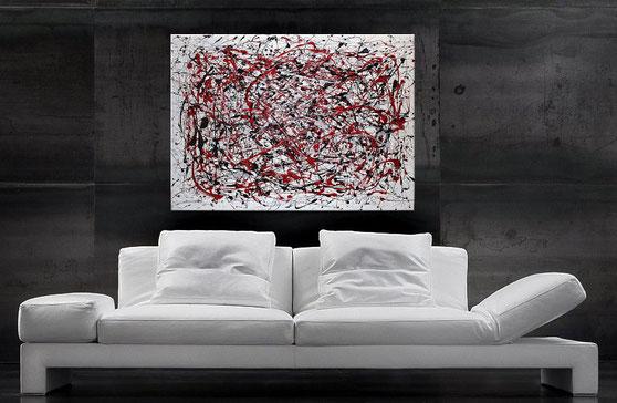 """Wanddbild XXL """"Pollock"""" 120 x 90 cm"""