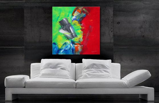 """Wandbild XXl """"Shining"""" 120 x 90 cm"""