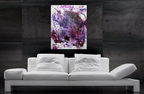 modernes acrylbild in purple