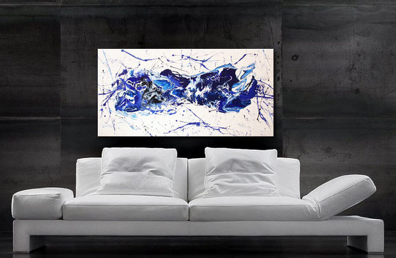 Blaue Farbverläufe - Wandbilder kaufen