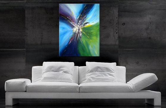 "Wandbild XXL ""Bang"" 120 x 90 cm"