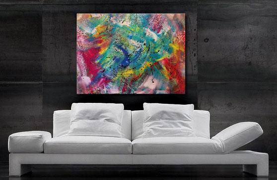Wandbild XXL - sehr modern, abstrakt -Burk Art Malerei, Gemälde, Bilder