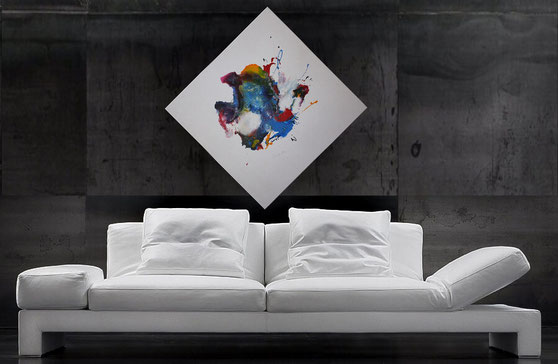 "Wandbild XXL ""Lichtaufbruch"" 120 x 90 cm"
