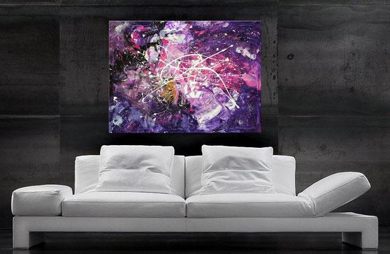 "Wandbild XXL ""Quantum"" 120 x 90 cm"