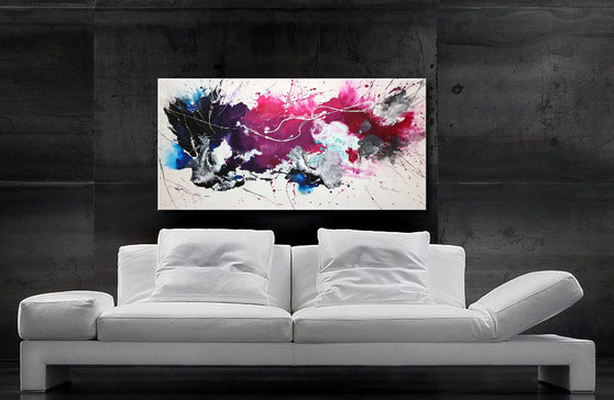 Fluid Art Painting 120 x 60 cm