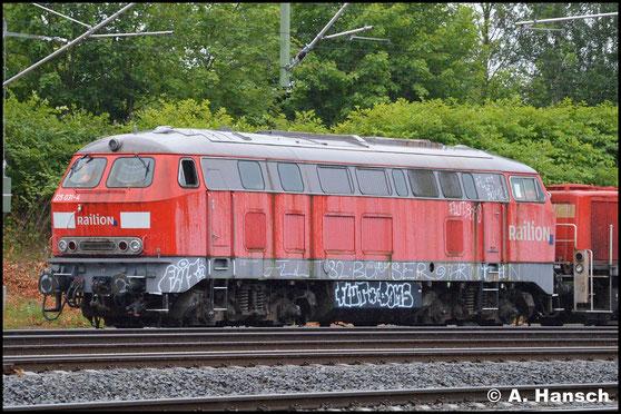 Am 24. Juni 2018 erreicht ein Lokzug aus Hamm das DB Stillstandsmanagement Chemnitz. Mit im Zug war auch 225 031-4 zu finden