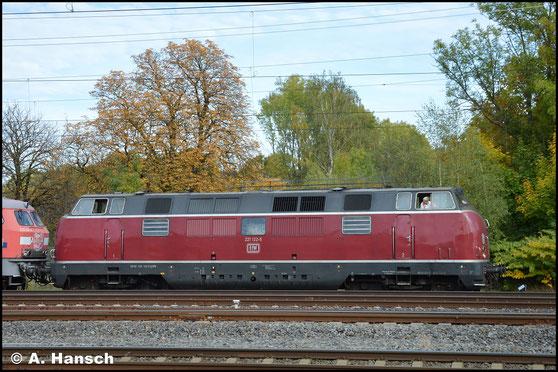221 122-5 rangiert am am AW Chemnitz. Die Lok gehört EfW