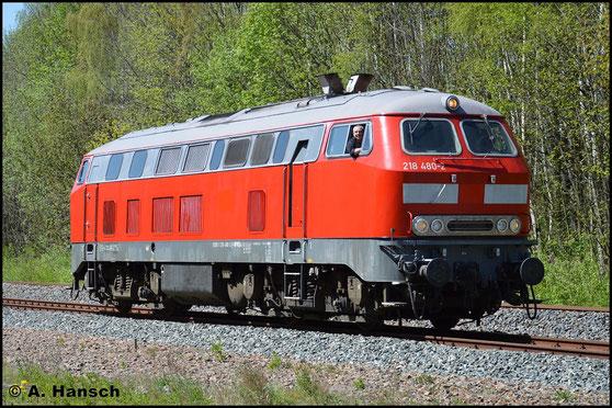Am 7. Mai 2016 ist 218 480-2 der Railsystems RP GmbH beim Bw Fest in Schwarzenberg zu Gast. Bei der Lokparade wurde sie ebenfalls präsentiert