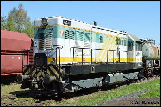 107 513-4 gehört der Railsystems RP GmbH (ebenso wie 107 018-4 und 107 554-8) und war in Tschechien als T458 1513 im Einsatz. Hier steht sie am 7. Mai 2016 zum Bw Fest in Schwarzenberg (Erzg.)