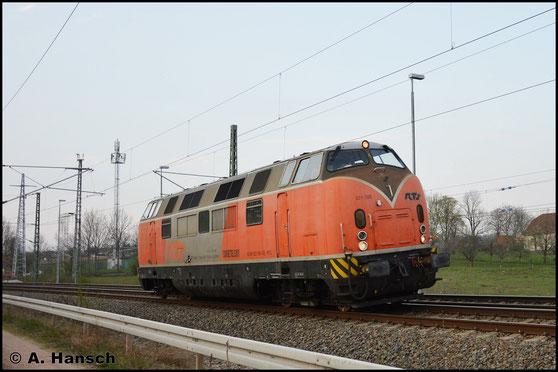 225 105-0 von RTS ist am 6. April 2019 Lz unterwegs. In Chemnitz-Furth erwischte ich die Lok
