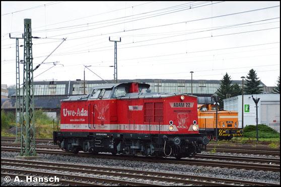 Am 4. Oktober 2016 rollt 202 241-6 von der Betankungsanlage kommend am AW Chemnitz vorbei. Im Hintergrund ist 345 119-2 (RIS V60 1264) zu sehen