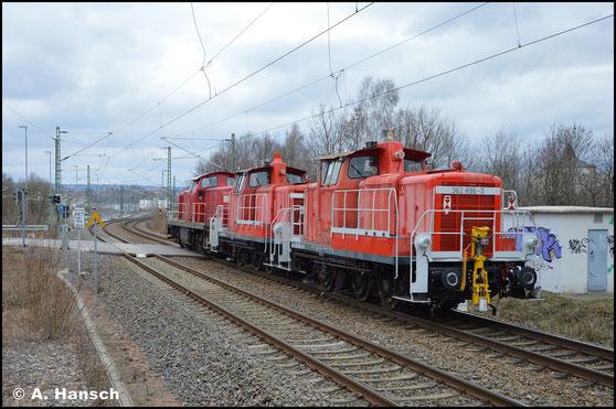 362 896-3 ist am 21. März 2020 in einem Lokzug von Cottbus nach Nürnberg unterwegs. In Chemnitz-Furth konnte ich die Lok auf den Chip brennen