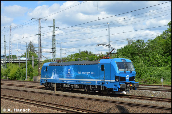 192 004-0 ist für InfraLeuna im Einsatz. Am 5. Juni 2020 begegnet sie mir in Luth. Wittenberg Hbf.