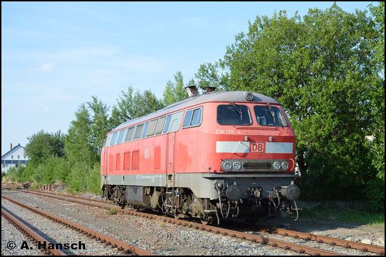 Am 19. Juli 2017 sonnt sich 218 139-4 in Chemnitz-Süd