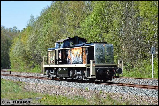 291 034-7 der Railsystems RP GmbH konnte am 7. Mai 2016 beim Bw-Fest in Schwarzenberg zur Lokparade bestaunt werden