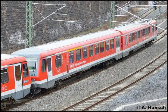Am 2. Februar 2016 erreichen zwei 628er in wenigen Augenblicken Chemnitz Hbf. Es handelt sich um  928/628 578 und 628/928 580 (davor), die für Modernisierungsarbeiten ins AW Chemnitz fahren