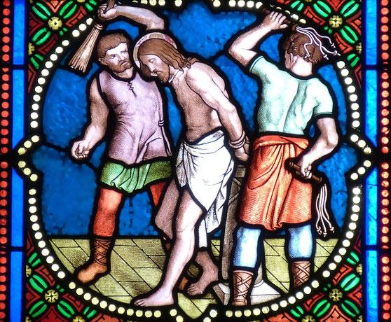 Der Leidensweg Simsons stellt die Passion Christi dar. https://www.freudenbotschaft.net/gleichnisse/das-biblische-gleichnis-des-von-der-hure-arm-gemachten-sonnengleichen/