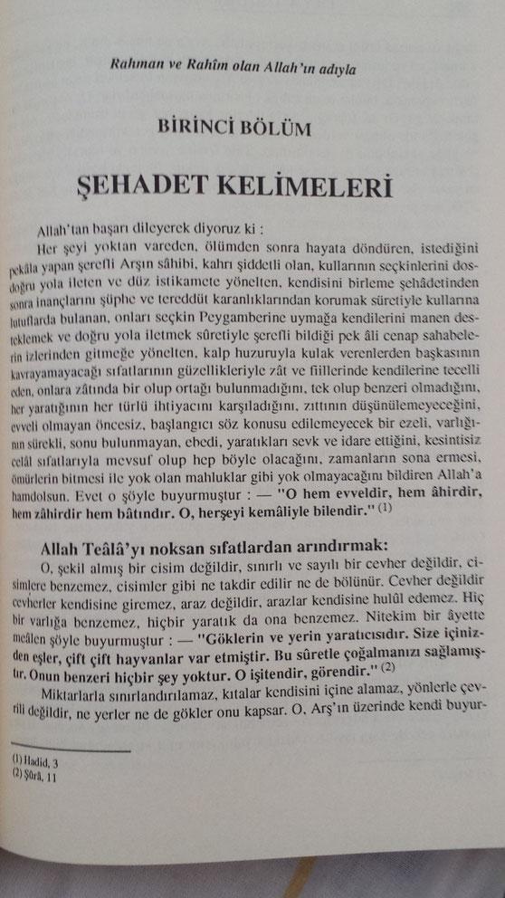 [Îmam Ghazâlî, Îhyâ-yı Ulûmîddin [Allah'ın sıfatları] cilt 1, s. 201]