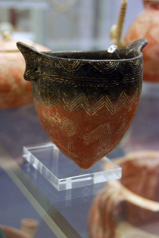 Tulip shaped bowl of Red Polished Ware 2300-2100 from Vounos: British Museum