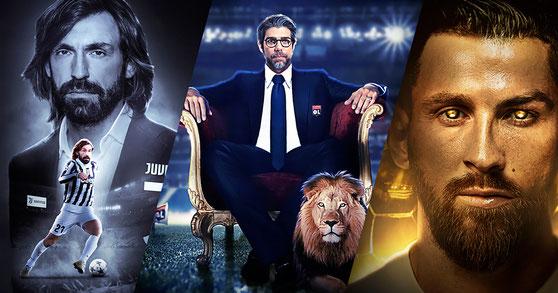 Andrea Pirlo - Juninho Pernambucano - Messi Ronaldo - Football Design #10