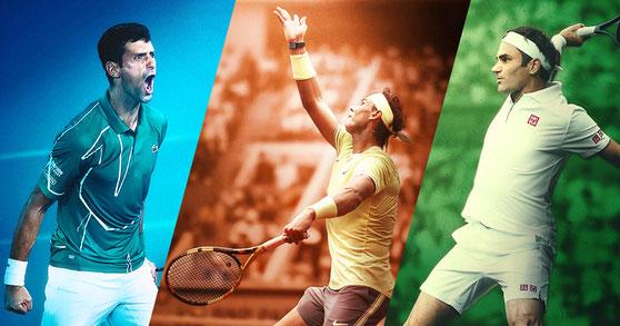 Novak Djokovic - Rafael Nadal - Roger Federer - Tennis Design #1
