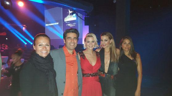 """Karina Berger, André Roger, Dominique Rinderknecht aka """"Taminique"""", DJ Tanja La Croix, Mirna Muriel"""