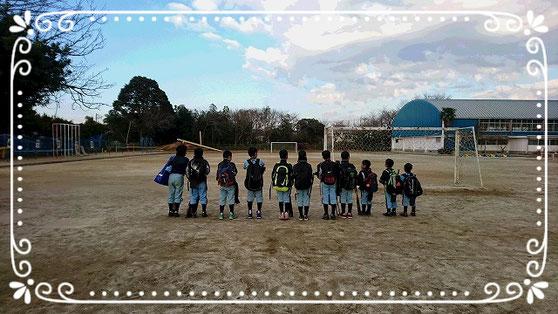 2016年12月18日 新山野球部として最後のグランド挨拶となりました。