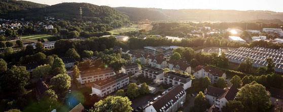 Wohnsiedlung Hattingen Eigentumswohnungen Reihenhäuser BlowerDoor Tests