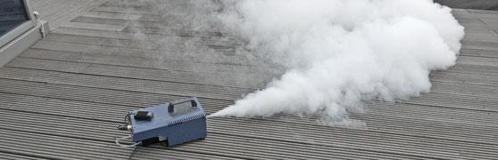 Leckagensuche mit Nebel