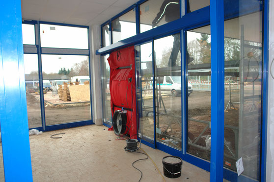 Lidl Supermarkt iscounter Kyllburg BlowerDoor Industrie Gewerbe