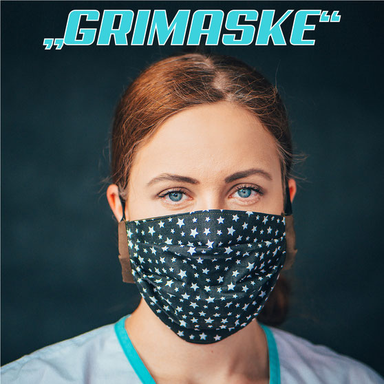 """""""GRIMASKE®"""" die Mundschutzmaske mit FFP-2 Schutz gegen virale Infektionen von Feld Textil GmbH - https://www.krawatten-tuecher-schals-werbetextilien.de/"""