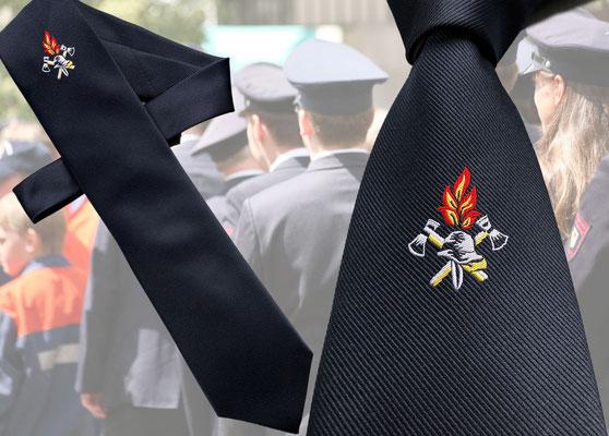 Feuerwehrkrawatte Langbinder zum knoten von Feld Textil GmbH