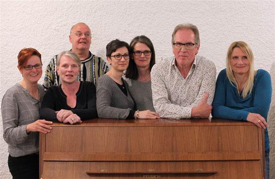 Unser neuer Vorstand (v.l.): Tanja, Susanne, Reinhard, Eli, Monika, Ernst, Birgit