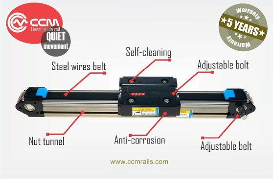 ccm linear slide guide