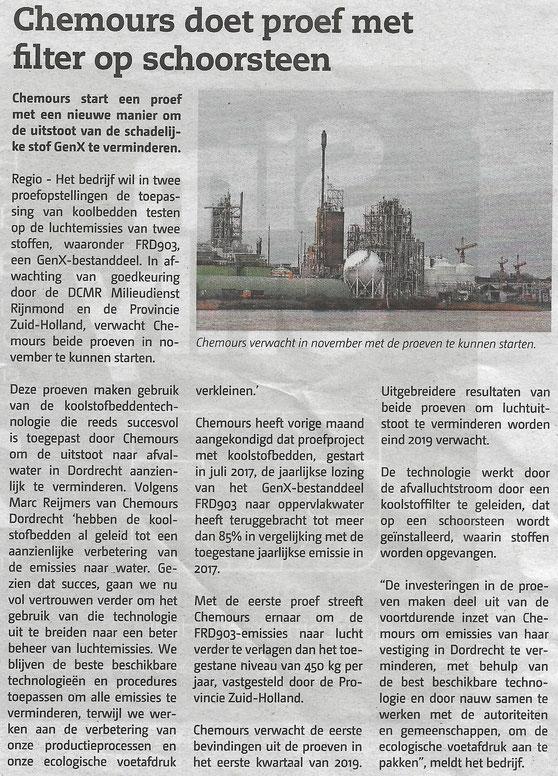 Artikel verschenen in het Papendrechts Nieuwsblad op 29 augustus 2018