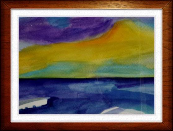 Aquarell nach Emil Nolde  42x30 cm
