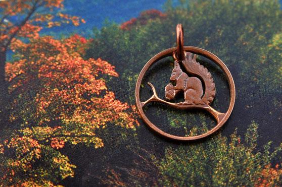 Münzsägewerk Katrin Thull   Norwegen - Eichhörnchen